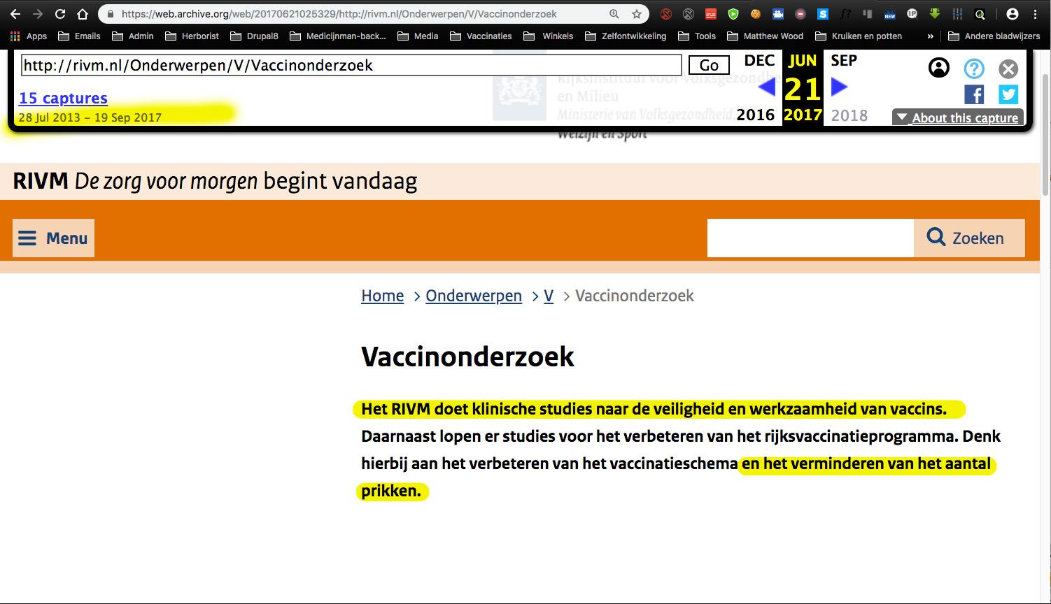 RIVM doet klinisch onderzoek naar de veiligheid van Vaccinaties (20130 website tekst